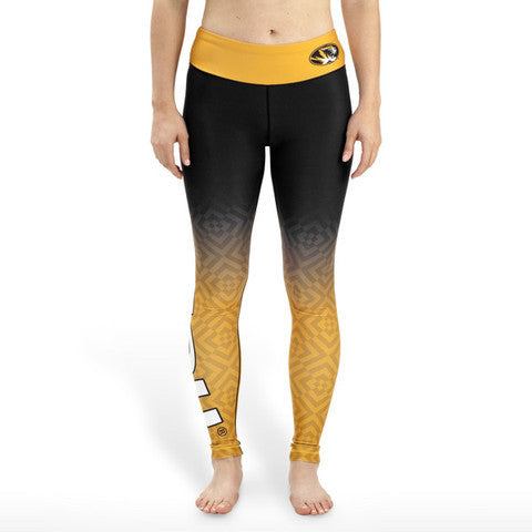 Missouri Tigers Womens Official NCAA Gradient Print Leggings