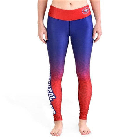 Montreal Canadiens Womens Gradient Print Leggings