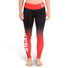 Nebraska Huskers Womens Official NCAA Gradient Print Leggings