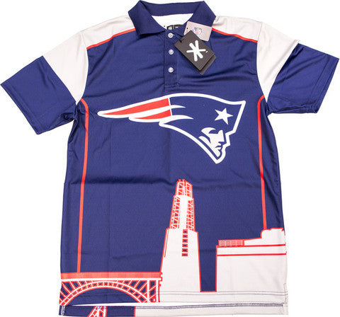 New England Patriots Official NFL Thematic Polyester Polo Shirt