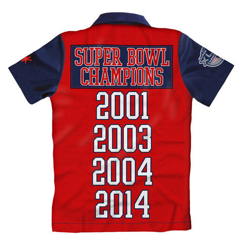 New England Patriots SB 49 Champions Official NFL Polo