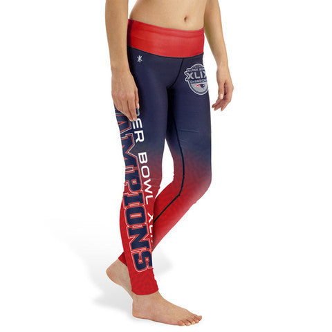 New England Patriots SB 49 Champions Womens Gradient Official NFL Print Leggings