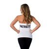 "New England Patriots Women's Official NFL ""Blown Coverage"" White Halter"