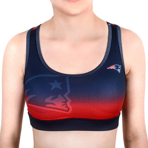 New England Patriots Women's Official NFL Gradient Sports Bra