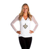 "New Orleans Saints Women's Official NFL ""Wildkat"" White Top"