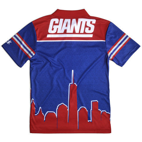 New York Giants Official NFL Thematic Polyester Polo Shirt