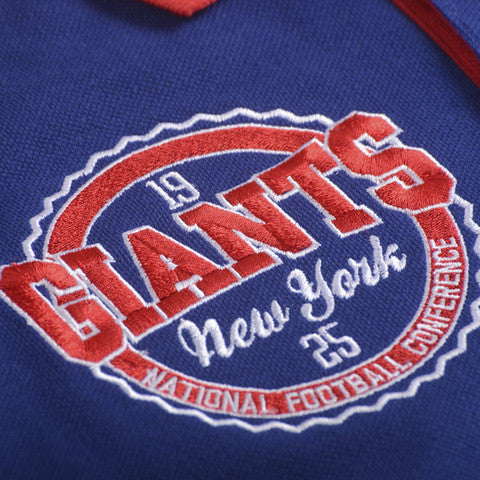 New York Giants Official NFL Wordmark Cotton/Poly Polo