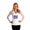"New York Giants Women's Official NFL ""Wildkat"" White Top"
