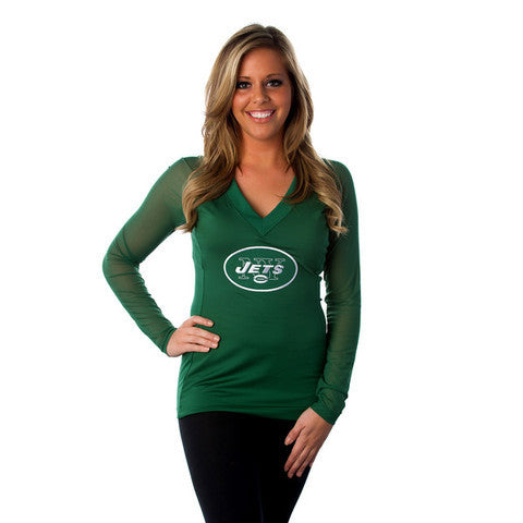 "New York Jets Women's Official NFL ""Wildkat"" Top"
