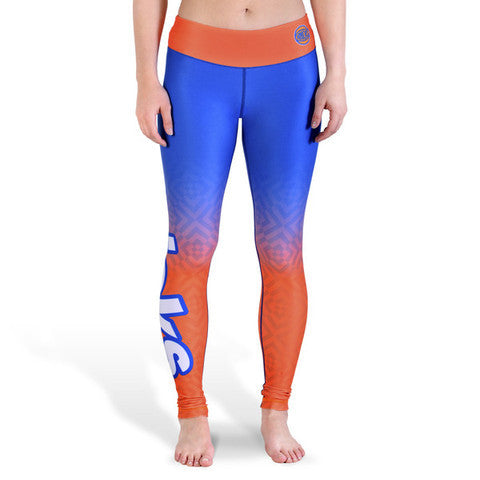 New York Knicks Womens Official NBA Gradient Print Leggings