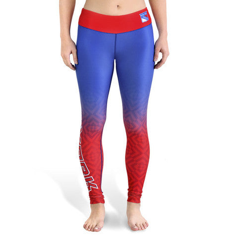 New York Rangers Womens Gradient Print Leggings
