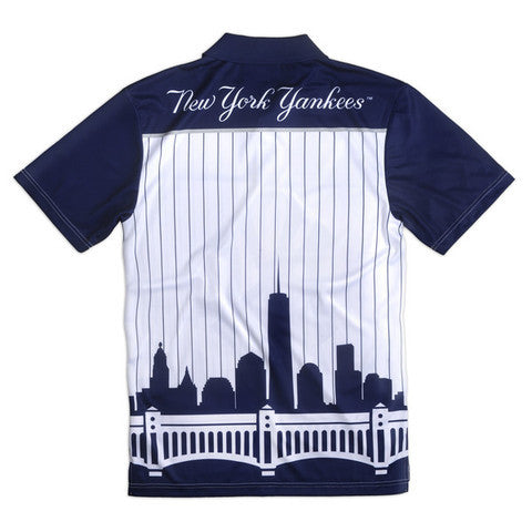 New York Yankees Official MLB Thematic Polyester Polo Shirt