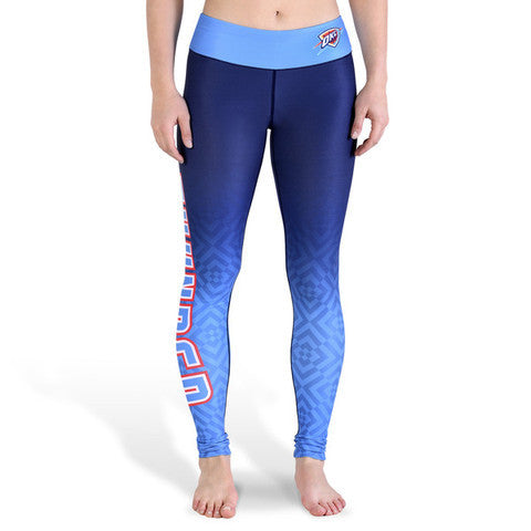 Oklahoma City Thunder Womens Official NBA Gradient Print Leggings