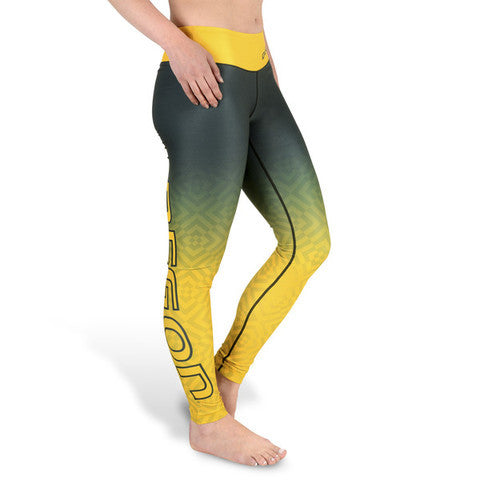 Oregon Ducks Womens Gradient Print Leggings