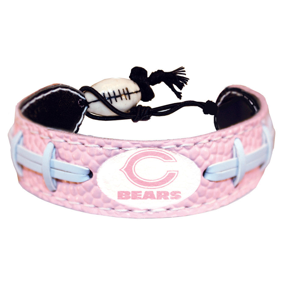 Chicago Bears Official NFL Pink Bracelet