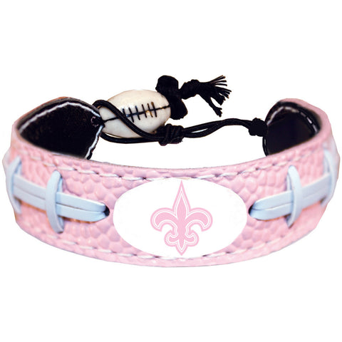 New Orleans Saints Official NFL Pink Bracelet
