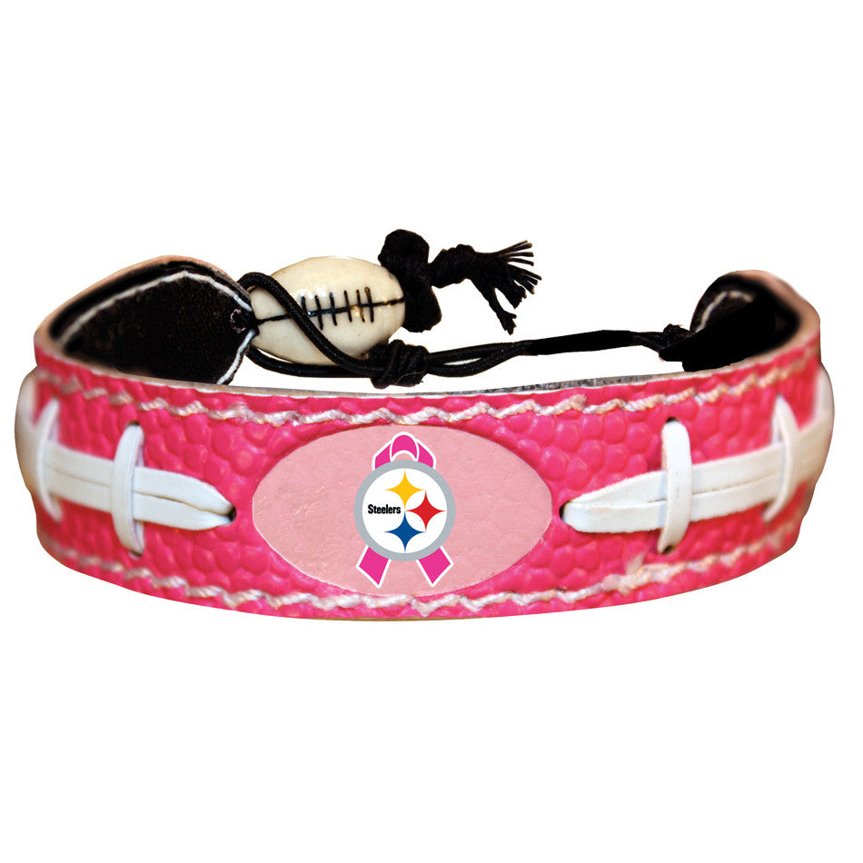 Pittsburgh Steelers Breast Cancer Awareness Pink Ribbon NFL Football Bracelet