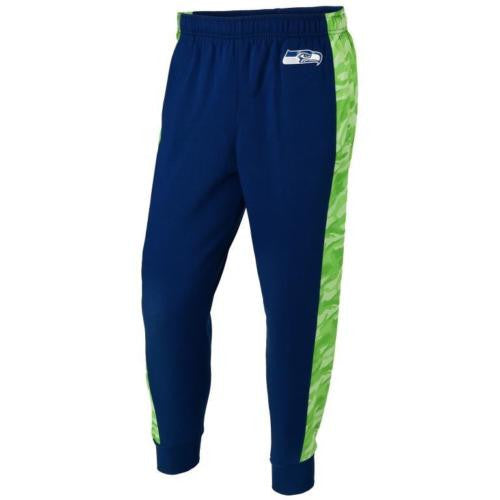 Seattle Seahawks   Official NFL Mens Printed Poly Insert Camo Stripe Jogger Pants