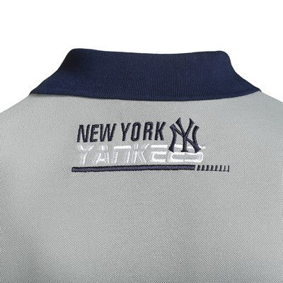 New York Yankees Official MLB Cotton Rugby Diagonal Striped Polo