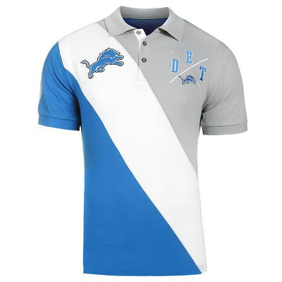Detroit Lions Official NFL Cotton Rugby Diagonal Striped Polo (PRE-ORDER)