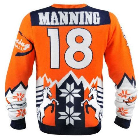 Peyton Manning Denver Broncos Official NFL Ugly Sweater