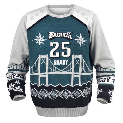 Philadelphia Eagles LeSean McCoy Official NFL Ugly Sweater