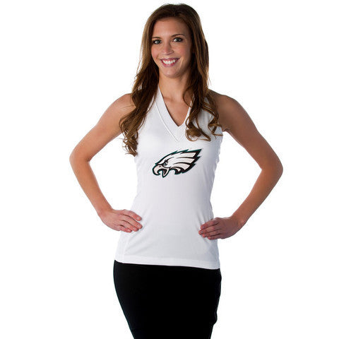 "Philadelphia Eagles Women's Official NFL ""Blown Coverage"" Green or White Halter"