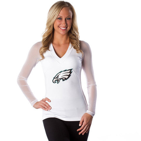 "Philadelphia Eagles Women's Official ""Wildkat"" White Top"