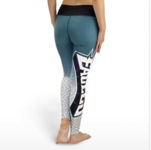 Philadelphia Eagles Womens Gradient Print Leggings