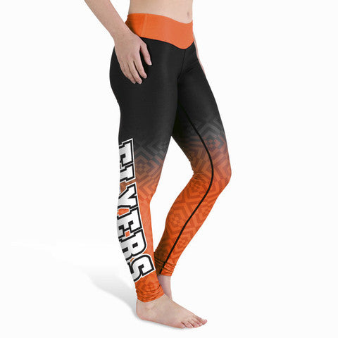 Philadelphia Flyers Womens Gradient Print Leggings
