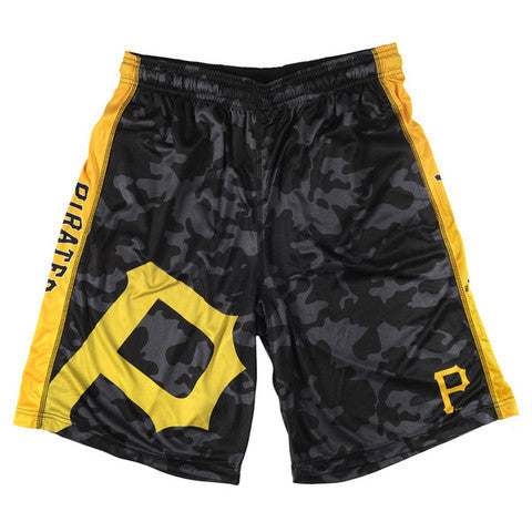 Pittsburgh Pirates Official MLB Big Log Camo Shorts