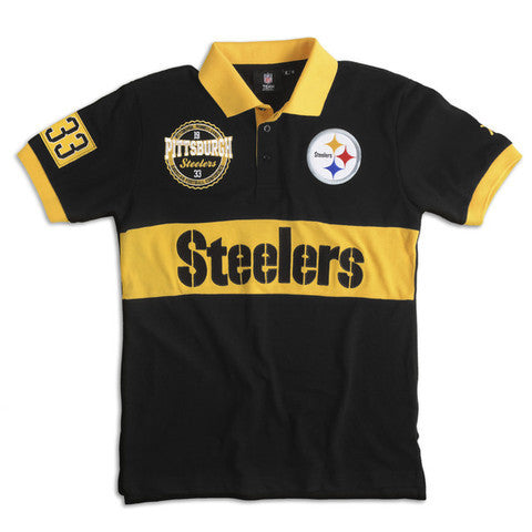 Pittsburgh Steelers Official NFL Wordmark Cotton/Poly Polo