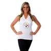 "Pittsburgh Steelers Women's Official NFL ""Blown Coverage"" White Halter"