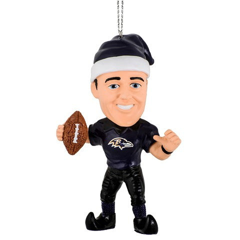 NFL Baltimore Ravens Flacco J. #5 Resin Player Elf Ornament