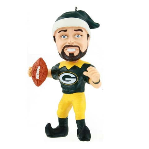 NFL Green Bay Packers Rodgers A. #12 Resin Player Elf Ornament