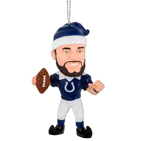 NFL Indianapolis Colts Luck A. #12 Resin Player Elf Ornament