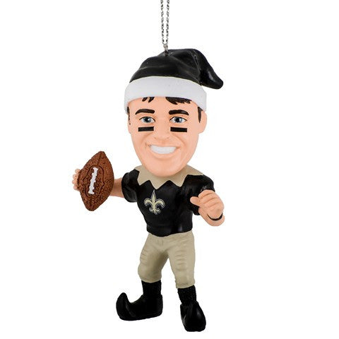 NFL New Orleans Saints Brees D. #9 Resin Player Elf Ornament
