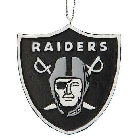Oakland Raiders Official NFL Resin Logo Ornament