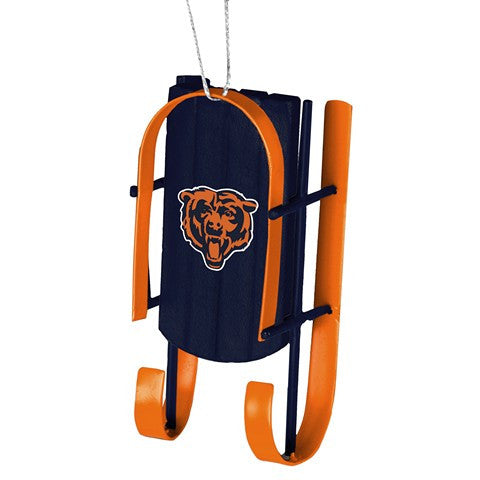Chicago Bears Official NFL Resin Sled Ornament