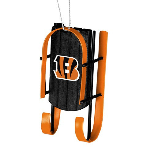 Cincinnati Bengals Official NFL Resin Sled Ornament