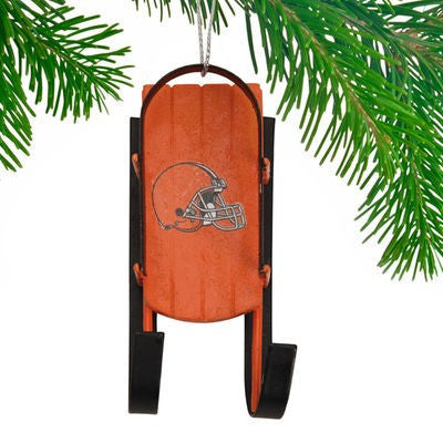 Cleveland Browns Official NFL Resin Sled Ornament