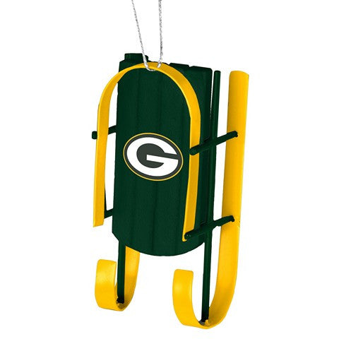 Green Bay Packers Official NFL Resin Sled Ornament