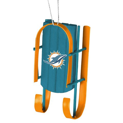 Miami Dolphins Official NFL Resin Sled Ornament