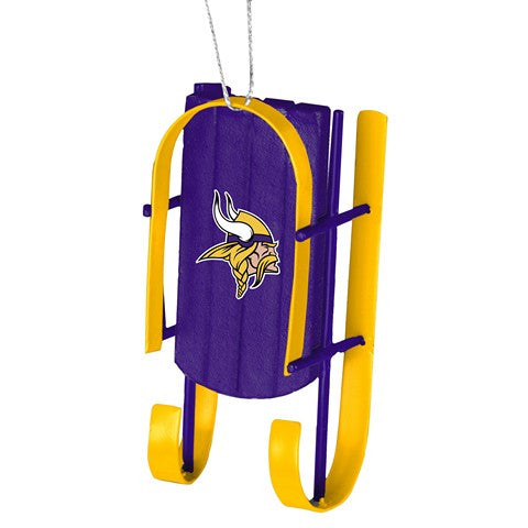 Minnesota Vikings Official NFL Resin Sled Ornament