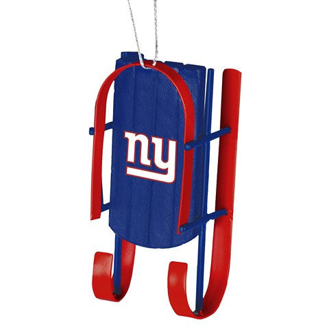 New York Giants Official NFL Resin Sled Ornament