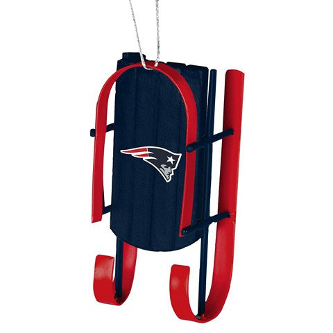 New England Patriots Official NFL Resin Sled Ornament