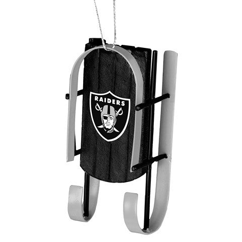 Oakland Raiders Official NFL Resin Sled Ornament