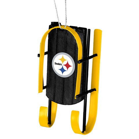Pittsburgh Steeelrs Official NCAA Resin Sled Ornament