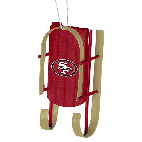 San Francisco 49Ers Official NFL Resin Sled Ornament
