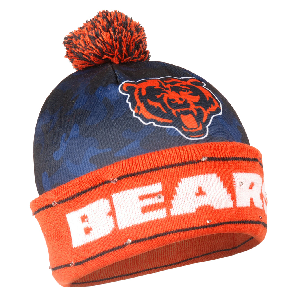 Chicago Bears Official NFL Camouflage Light Up Printed Beanie